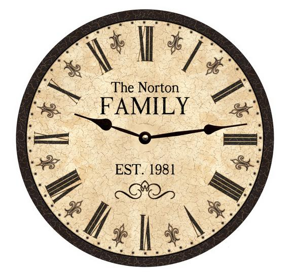Oversized Family Clock Personalized Clock | Et