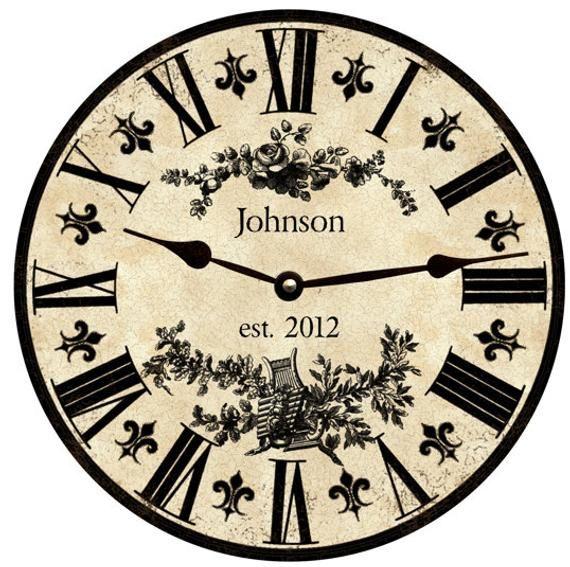 Personalized Clock- Personalized Fleur De Lis Clock | Personalized .