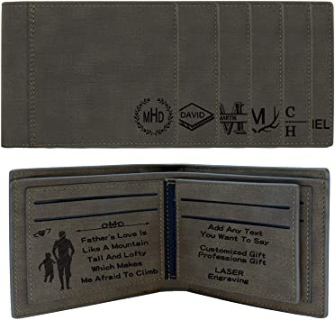 Amazon.com: Personalized Wallets for Men,RFID Blocking,Monogram .