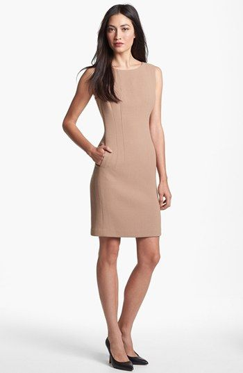 Hottest petite dresses for work :: Bomb Petite. With black boots .