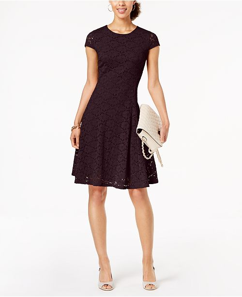 Alfani Petite Lace Fit & Flare Dress, Created for Macy's & Reviews .