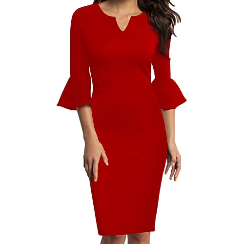 Red Petite Dress: Amazon.c