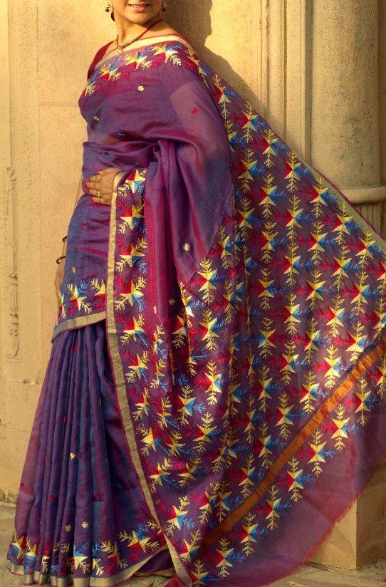 phulkari sarees - Pesquisa Google (With images) | Phulkari sar