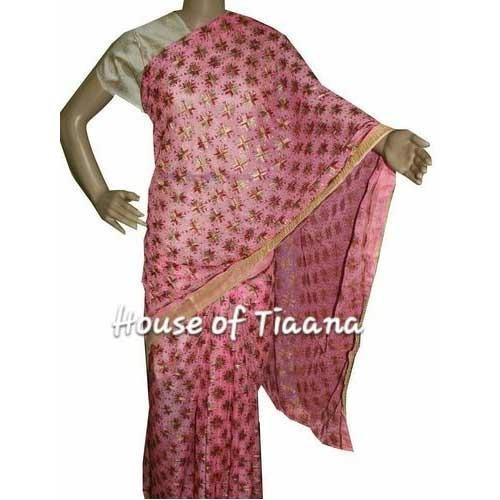 Designer Phulkari Sarees, फुलकारी साड़ी - House Of .