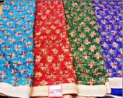 Sarees - Phulkari Chiffon Saree Manufacturer from Amrits