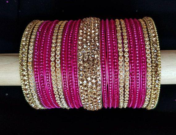 Bollywood pink bangles pink wedding bangles bridal bangle (With .