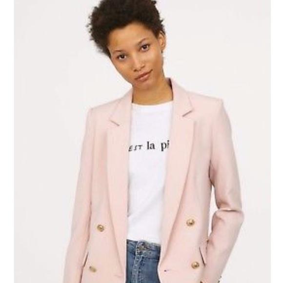 H&M Jackets & Coats | Hm Womens Pink Blazer Jacket | Poshma