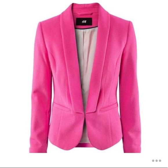 H&M Jackets & Coats | Hm Hot Pink Blazer Womens Size 6 | Poshma