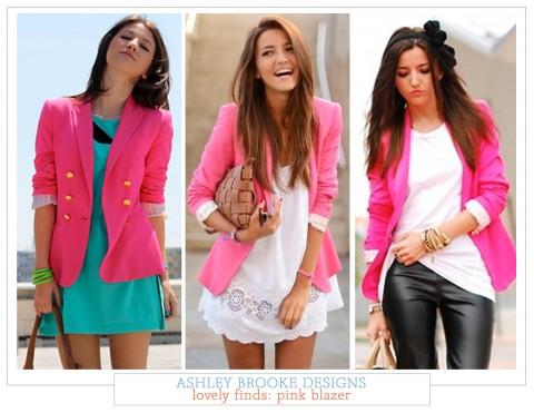 lovely finds: pink blazers | Ashley Brooke Desig