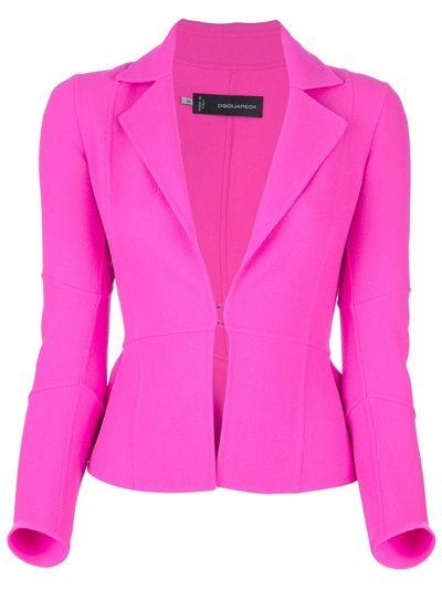 DSQUARED2 - hot pink blazer | Blazers rosa, Ideias fashion, Terno .