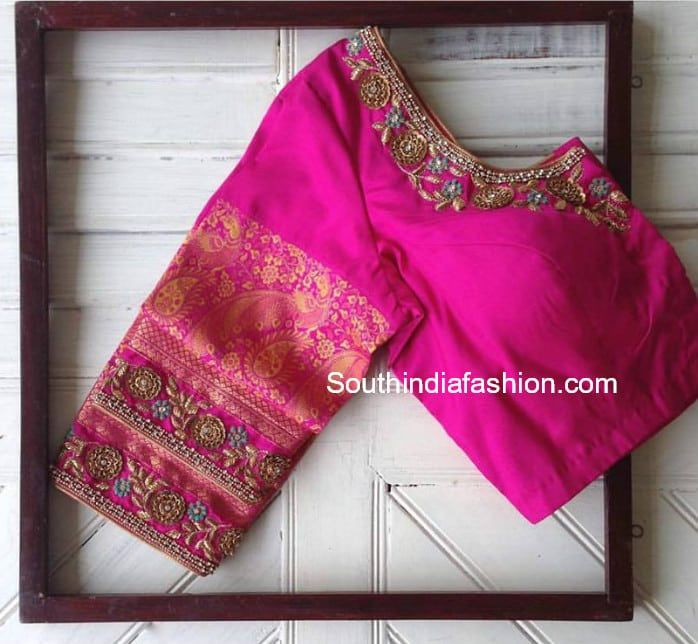 17 Awesome Maggam Work Blouse Designs by Nyshka Design Studio .