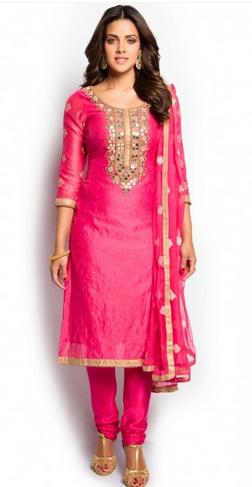 Pink And Gold Salwar Suit at Rs 5298/piece | Salwar Suit, Women .