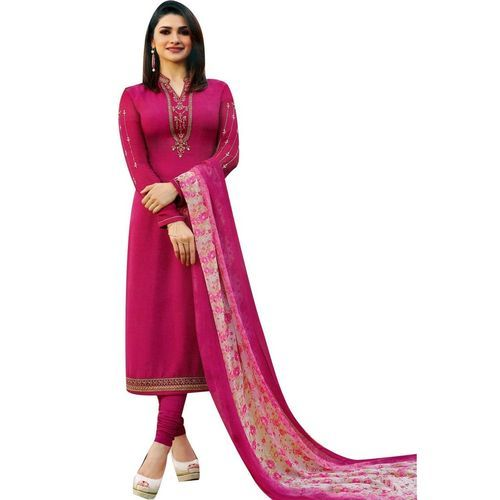 Ladies Silk Dark Pink Salwar Suit, Rs 900 /piece Hashtag Clothing .