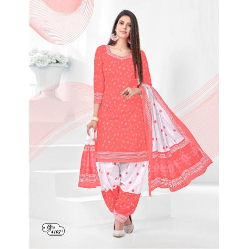Cotton Fancy Pink Salwar Suit Material, Rs 375 /piece Balkrishna .