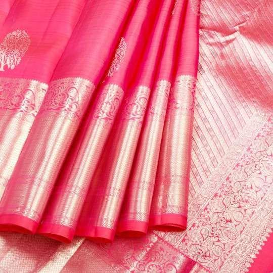 Kuberan baby pink pure kanchipuram silk saree #saree #sari #sareez .