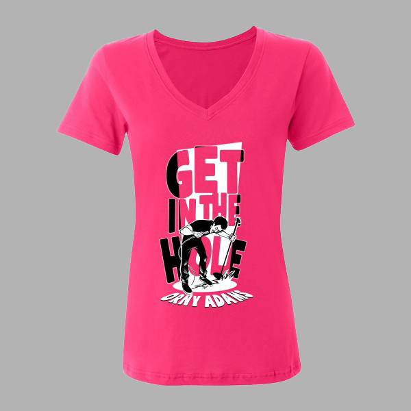 GET IN THE HOLE T-SHIRT – WOMENS PINK – ORNY ADA