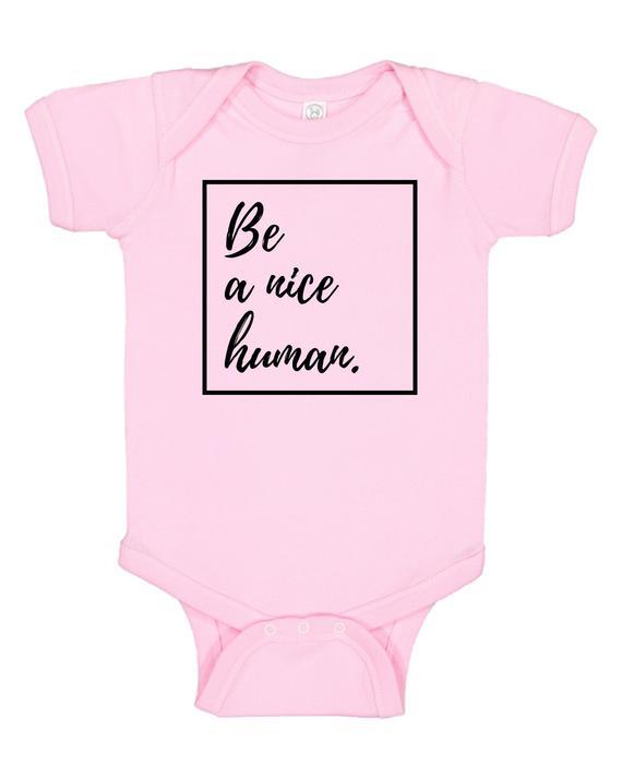 Be A Nice Human Toddler Shirt Pink Shirt Day Anti-Bullying | Et