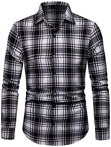 Amazon.com: Plaid Shirts For Men 2019,Liraly Men's Long Sleeve .
