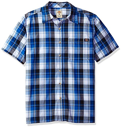 Dickies Men's Short Sleeve Square Bottom Plaid Shirt | The Men Shir