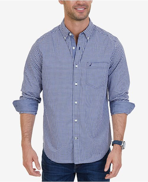 Nautica Men's Classic-Fit Stretch Plaid Shirt & Reviews - Casual .