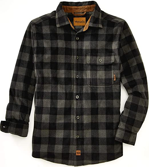 Venado Mens Plaid Shirts for Men - Heavyweight Buffalo Plaid .