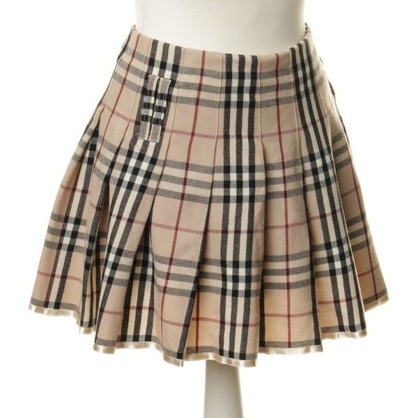 Burberry Pleated skirt with Plaid (320 BRL) ❤ liked on Polyvore .