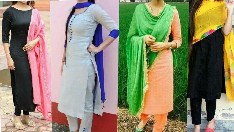 Plain Salwar Suits Exporter,Wholesale Plain Salwar Suits Supplier .