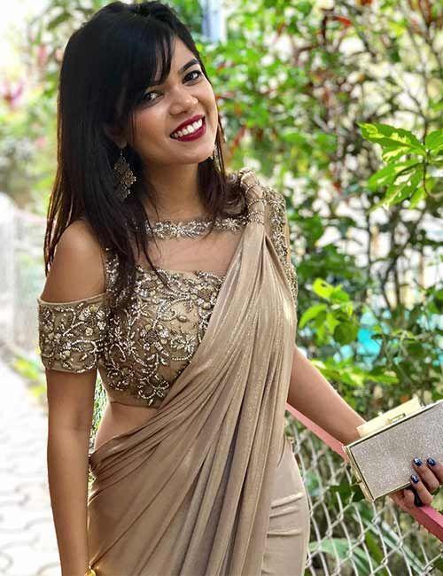 20 Latest Plain Saree With Designer Blouse Ideas | Net saree .