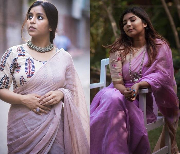 The Art of Wearing Humble Plain Sarees