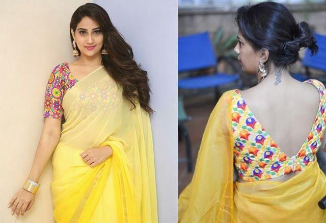 45 Latest Plain saree with Designer Blouse Ideas in 2020 | Saree .