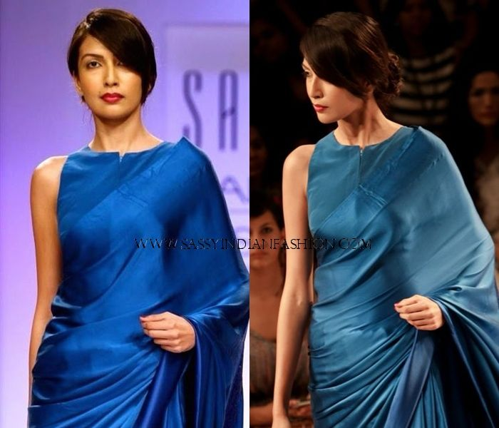 Plain Sarees With Designer Blouse - 40+ Creative Ideas | Silk .