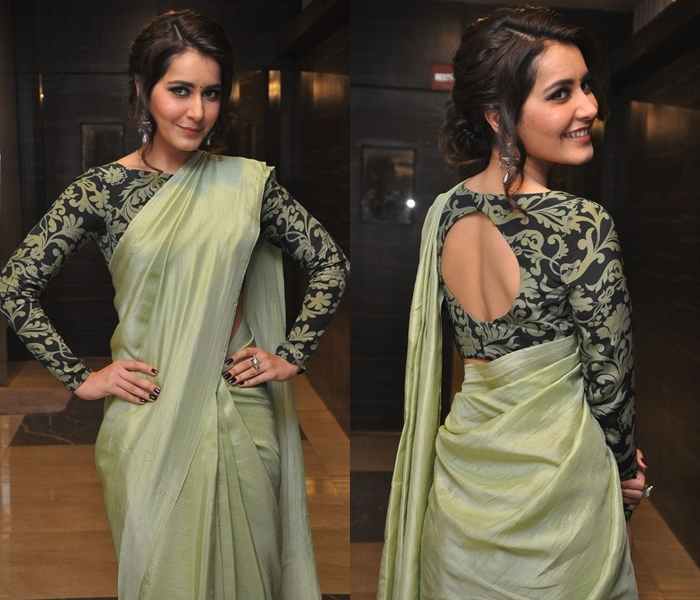 10 New Ways To Wear Plain Georgette Sarees With Designer Blouse .