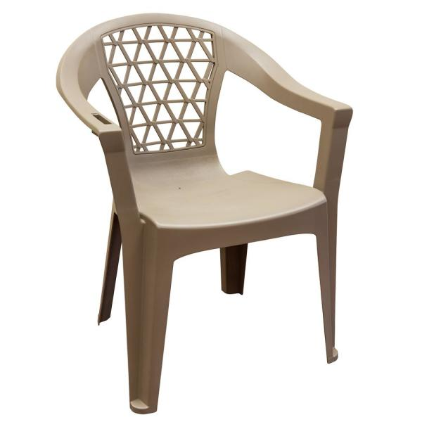 Penza Mushroom Stack Resin Plastic Outdoor Dining Chair 8220-96 .