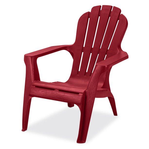 US Leisure Resin Adirondack Plastic Patio Furniture Chair, Red .