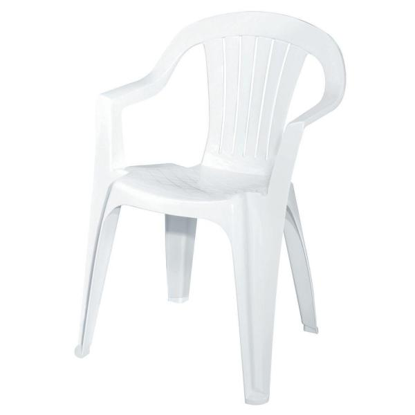 White Patio Low Back Chair 8234-48-4301 - The Home Dep