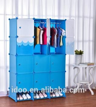 Large capacity portable kids plastic wardrobe design/ wardrobe for .