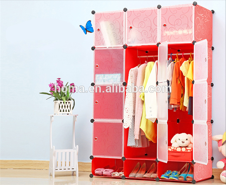 Safety Children Bedroom Plastic Wardrobe Designs - Buy Plastic .