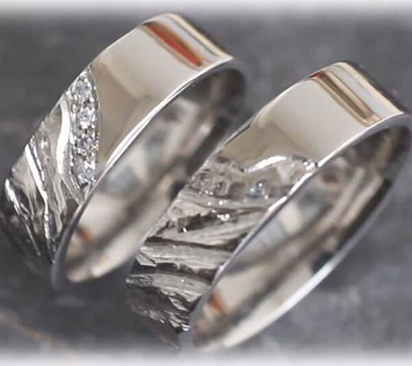 Unique Wedding Rings FT119 Made of Platinum 950 - Online Shop for .