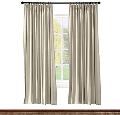 Amazon.com: ChadMade Pinch Pleated Curtain Solid Thermal Insulated .