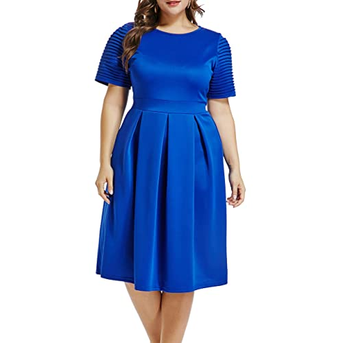 Blue Plus Size Dress: Amazon.c