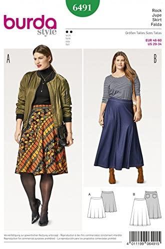 Amazon.com: Burda Ladies Easy Plus Size Sewing Pattern 6491 Flared .