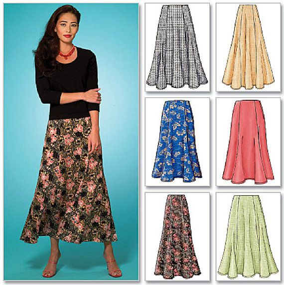 Plus Size SKIRT Sewing Pattern - 6 Different Skirts (more .