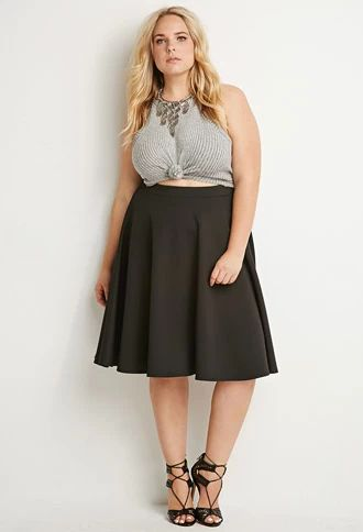 5 flattering black skirts for plus size women - curvyoutfits.c