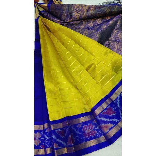 Pochampally Cotton Saree, 5.5 M (separate Blouse Piece), Rs 6700 .
