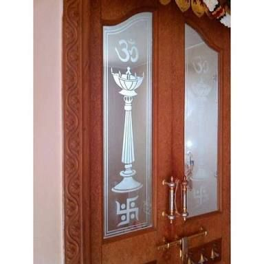 Image result for glass door designs for pooja room (With images .