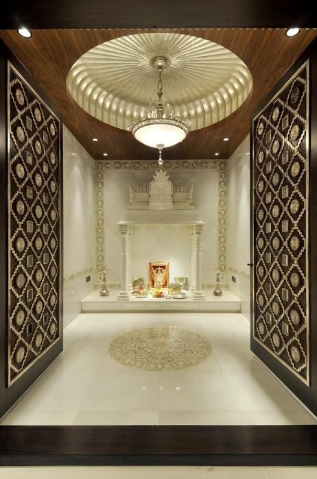 Design of Pooja Room within a House | Pooja room door design .