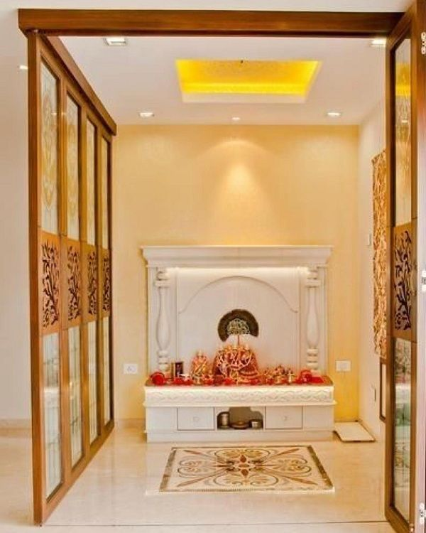 10 Best Pooja Room False Ceiling Designs With Pictures | Pooja .