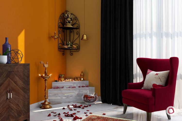 7 Enchanting Colour Ideas For Pooja Corne