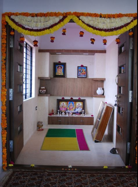 Pooja Room Color Ideas | Room door design, Pooja rooms, Pooja room .
