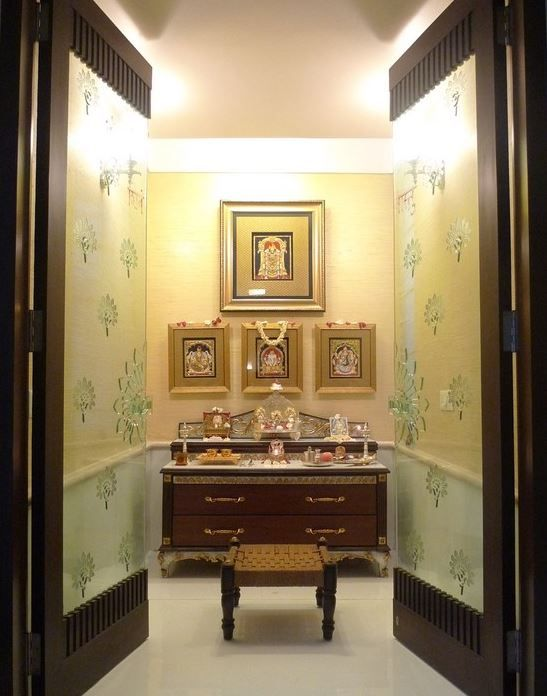 Pooja Room Color Ideas | Pooja rooms, Pooja room door design, Room .